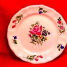 Antique Vintage Luneville Faience Rose Bread & Butter Plate c.1920, LUN73