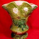 Vintage Art NouveauMajolica Vase Flowers & Leaves c.1927, gm727