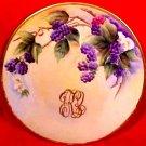 Antique Hand Painted Limoges Blackberries Plate c.1900-1911, L152