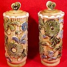 Large Vintage 1940's German Majolica Salt & Pepper Shakers, gm730
