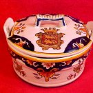 Antique Desvres n. Quimper Handled Lidded Butter Dish Butter Tub c.1900, fm783