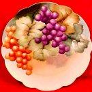 Antique Hand Painted Grapes & Leaves Austrian Porcelain Plate c.1880-1908, p130