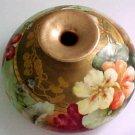 Rare Antique Victorian Squat Vase Limoges Hand Paintede c.1900, L110