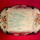 Antique French Longchamp Majolica Asparagus Platter c.1880-1910, fm836