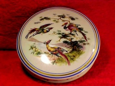 Large Limoges Dresser Box Birds of Paradise, L190