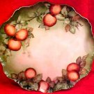 Huge Antique Jean Pouyat Limoges Hand Painted Dresser Tray Platter w Apples, L172