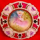 Early Antique RS Prussia Pansy Mold Handled Platter Late 1800's, p125