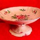 Antique Luneville Comport c.1890 Faience Majolica K&G Compote Pedistal Dish, lun45