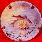 Antique Limoges Known Artist Roche Underwater Scene Fish Plate, L210