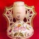 Antique Victorian Austrian Hand Painted Vase w/ Wing Handles c.1888-1901, p92