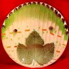 Antique French Majolica Asparagus Plate Niderviller Early 1900's, fm748