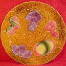 Vintage French Majolica Fruit & Leaves Platter Salins-les-Bains, fm133