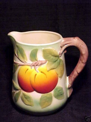Vintage French Saint Clement Majolica Apples Pitcher, fm448