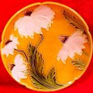 Antique French German Majolica Coneflower Echinacea Plate c.1800's, gm753