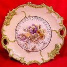 Early Antique RS Prussia Porcelain Handled Cake Platter Late 1800's, p104