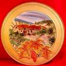"Large Fitz & Floyd Majolica Wall Platter Del Vino 12.5"" Grapes & Leaves, gm754"