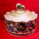 Vintage 1940's Germany Majolica Cookie Cracker Buscuit Jar, gm783