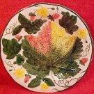 Vintage German Majolica Strawberries & Leaf Plate c.1950's, gm489, gm490