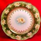 Antique Austrian Fine Porcelain Water Lily Lilies Plate c.1884-1909, MZ Austria, pc31