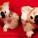 Beautiful Pair of Majolica Pottery Austrailian Doala Bears, p87