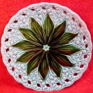 Pierced Edge Antique German Majolica Lily of the Valley Plate, gm215