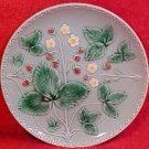 Vintage German Majolica Strawberry Plate Zell, gm219