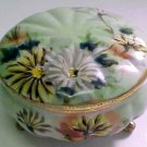 Early Antique Hand Painted German or French Lidded Footed Dresser Jar, p93