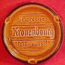 Vinjolica 1950's Majolica St. Clement France KRONENBOURG Ashtray Wall Plaque, fm831