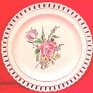 Antique Luneville Reticulated Plate, lun78