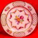 Vintage German Dresden Porcelain Flowers Plate, hp70
