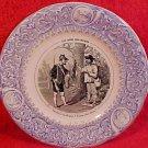 Antique Luneville Faience Hunting Plate c.1889, fm564