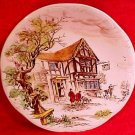 Vintage Gien French Faience Hunting Lodge Plate, ff266