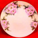 Antique Hand Painted German Plate Moss Rose c.1883, p111