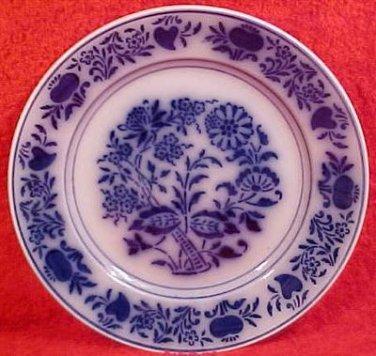 Antique Luneville Flow Blue French Faience Plate c.1889, ff208