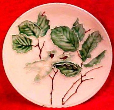 Antique German Majolica Chestnut Plate Villeroy & Boch, gm16