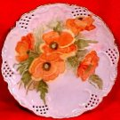 Antique Hand Painted Porcelain Poppy Flowers Plate Signed W. Tarleton, L107