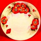 Antique German Hand Painted Poppy Flowers Plate c.1883, p110