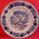 Antique Luneville Flow Blue Faience Plate c.1890-1920, ff205