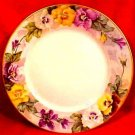 Antique Hand Painted Haviland Porcelain Pansy Charger Signed by Artist, L124
