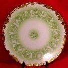 Antique Limoges T&V Green Roses Plate c.1892-1907, L78