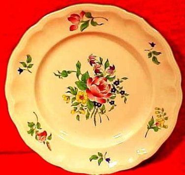 Vintage French Luneville Faience Plate Gray Edge, lun8
