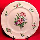 Vintage Antique French Luneville Faience Plate with Roses, lun10