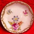 Antique Saxonia Dresden Fine Porcelain Roses & Flowers Butter Pat, p143