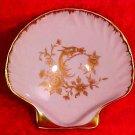 Vintage Castel Limoges France Porcelain Shell Open Salt with Phoenix Bird, L176