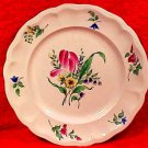 Antique Luneville Tulip Plate, lun81