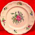 Antique Luneville Rose Faience Plate, lun80