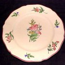 Luneville Faience Tulip Plate small chip, ff97