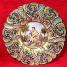 Antique Desvres n. Quimper Hand Painted Wall Platter, ff285