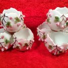 Rare Pair of Antique German Porcelain Rose Buds Egg Vases c1888-1901, p190