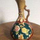 Antique Handled Majolica Vase, Urn, Pitcher Austria 1850-1880, gm844